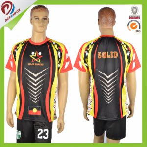 2017 Breathable Sublimated Dry Fit Short T Shirt with Custom Colors pictures & photos