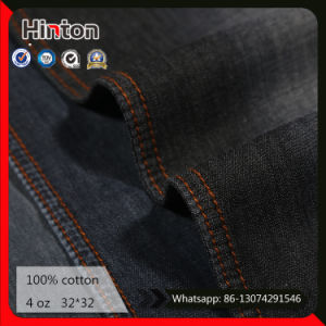 100% Cotton Jean Fabric 4oz Black Color Denim Shirting Fabric pictures & photos