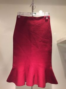 Lady′s Knitted Skirt with Pleated