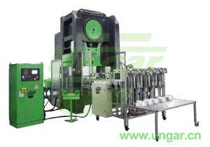 Fully Automatic Aluminum Foil Container Machine Scrap Collecting Press Compact Baller Machine Unsp-4040 Ungar Machinery pictures & photos