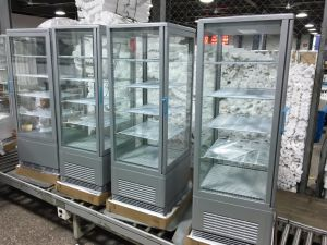 Four Sides Glass Standing Display Refrigerator Showcase pictures & photos