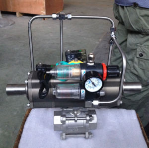 3PC Ball Valve with Three Position Pneumatic Actuator pictures & photos