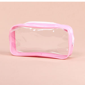 Dongguan Factory OEM Clear PVC Pencil Bag with Zipper pictures & photos
