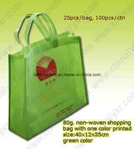 Cheap China Nonwoven Shopping Bag in Green pictures & photos