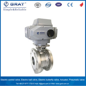 Pn25 Pressure Dn65 Size Stainless Steel Electric Ball Valve pictures & photos