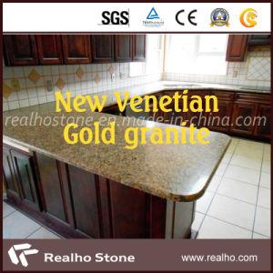 Low Price Brazil New Venetian Gold Granite Countertop pictures & photos