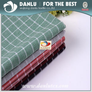 100%Cotton Poplin Fabric with Fashion Plaid Printed for Shirt pictures & photos