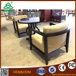 The New Chinese Woodmensal Sales Offices Negotiation Table and Chair Cloth Chairs pictures & photos