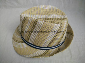 100%Polyester Colorful Fedora Hats pictures & photos