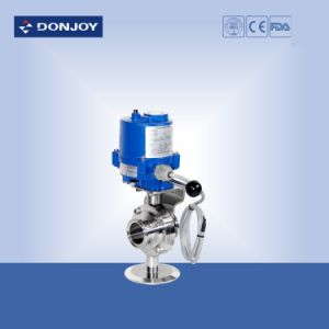Electric Sanitary Clamp Butterfly Valve pictures & photos