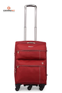 Chubont Hot Sell Red Color 5 Spinner Wheels Luggage Set pictures & photos