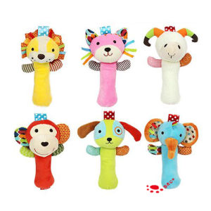 Baby Infant Cartoon Animal Handbell Rattles Toys pictures & photos