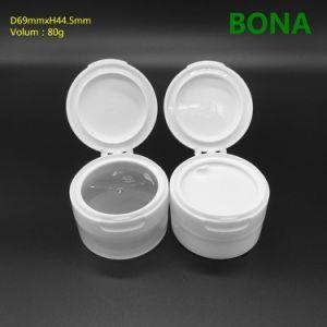 80g Face Cream Plastic Jar with Flip Top Cap pictures & photos