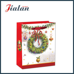Glossy Laminated Art Paper Christmas Decorations Carrier Gift Paper Bag pictures & photos