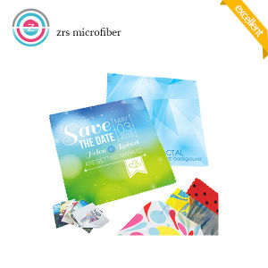Printed Eyeglass Microfiber Cleaning Cloth pictures & photos