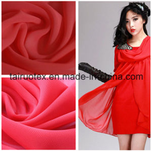 Polyester Silk Chiffon for Lady Summer Dress Fabric pictures & photos