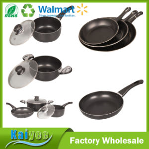 Professional Deep Non-Stick Frying Pan with Wood Handle pictures & photos