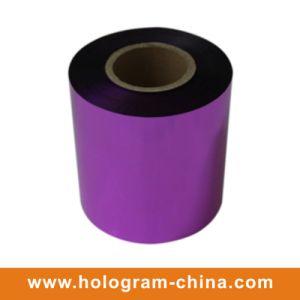 Aluminum Embossing Tamper Evident Purple Foil pictures & photos