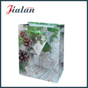 Custom Made Coated Paper with Glitter Christmas Shopping Gift Bags pictures & photos