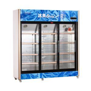1208L Vertical up Unit Sliding Multi-Door Display Refrigerator pictures & photos