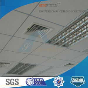 Vinyl Faced Gypsum Ceiling Tiles (7mm, 7.5mm, 8mm, 9mm) pictures & photos
