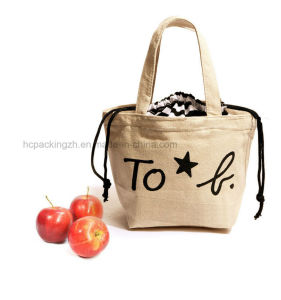 Convenient Lunch Drawstring Canvas Shopping Bag pictures & photos