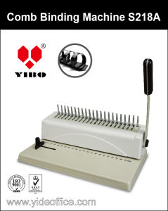 Small Comb Binding Machine (S218A) pictures & photos