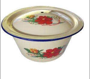 2016 High Quality Enamel Wash Bowl with Lid pictures & photos