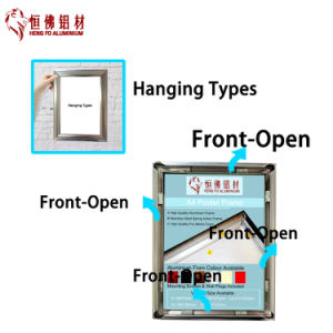 Customized Aluminum Picture Frame with LED pictures & photos