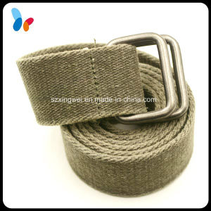 Canvas Web Belt with Square Loop Ring Buckle pictures & photos