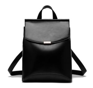 Black PU Backpack, Multi-Function High Quality Women′s Backpack pictures & photos