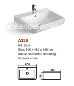 Ceramic Wash Basin (No. A336) Rectangular Bathroom Sink pictures & photos
