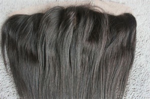 Brazilian Remy Hair 13*4inch Straight Three Part Lace Frontal pictures & photos