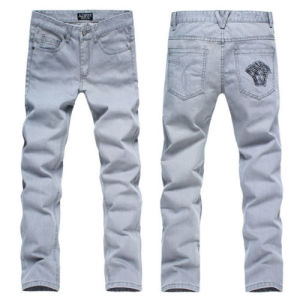 New Luxury Brand Medusa Embroidery Pant Mens Denim Trousers pictures & photos