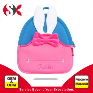 2016 New Children Cute Rabbit School Backpack with Neoprene Super Light Waterproof