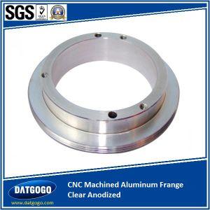 CNC Machined Aluminum Frange Clear Anodized pictures & photos