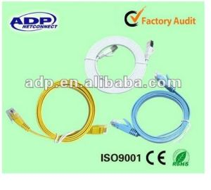 Custom Cat5e CAT6 UTP FTP LAN Cable Patch Cord RJ45 pictures & photos