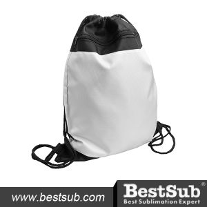 Drawstring Backpack (Black Polyester) (BXSN01) pictures & photos