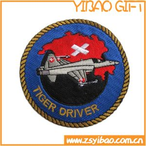 Factory Price Round Shape Embroidered Patches for Uniform (YB-e-025) pictures & photos