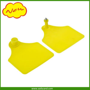 Yellow Color Custom Printing Ear Notching Tag pictures & photos