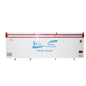 Double Compressors Large Capacity Top Open Door Chest Freezer