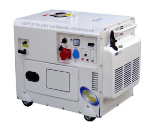 Home Use Generator 5kw Silent Gasoline Generator pictures & photos