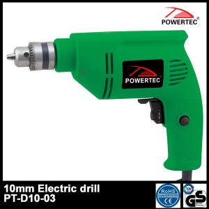 Powertec 300W 10mm Electric Hand Drill (PT-D10-03) pictures & photos