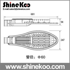 Tennis 100W LED Body for Streetlights pictures & photos