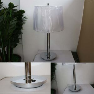 Hotel Decorative White Fabric Shade Iron Table/Desk Lighting pictures & photos