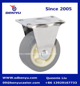 Light Duty Screw Type Gray PU Castor Wheel pictures & photos