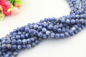 Semi Precious Natural Stone Loose Beads Round 4-12mm White and Blue Loose Gemstone for Sale pictures & photos