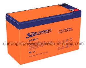Long Life Rechargeable 12V7ah Lead Acid Battery with CE UL Approval pictures & photos