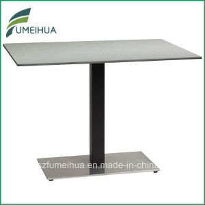 HPL Laminate Restaurant /Fast Food Table Top with Table Base pictures & photos