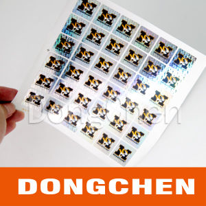 DOT Matrix Golden Holographic Sticker pictures & photos